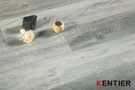 K5242-Hickory Wood Texture Wood Laminate Flooring with Handscraped Surface