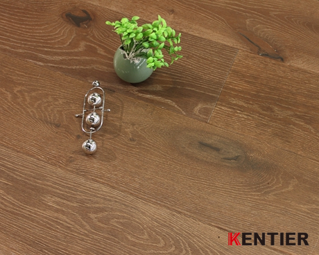 K5123-Wire Brushed Oak Top Layer with Brown Lacqueer Finished