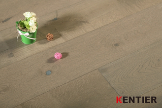 K5105-Oak Wire Brushed Engineered Wood Flooring at Kentier