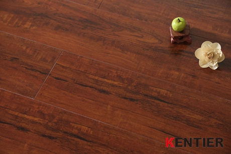 K9484-Red Color Laminate Flooring of Commercial Grade