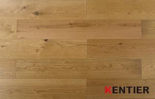 G001-Oak Wood Veneer with HDF Core--lamiwood Flooring with Smoked Treatment