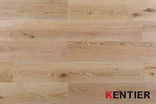 G008-Oak Wood Veneer with HDF Core--lamiwood Flooring with Wire Brushed Treatment