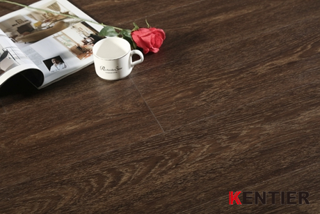 K2118-Chocolate Color Luxury Vinyl Tile Flooring From Kentier