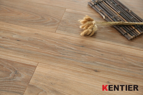 K55306-Brown Color Indoor HDF Laminate Flooring with EIR Surface